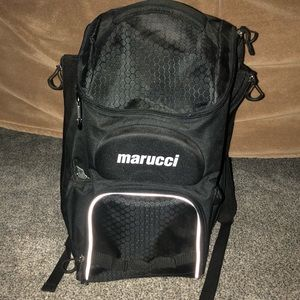 Black Baseball Marucci Backpack